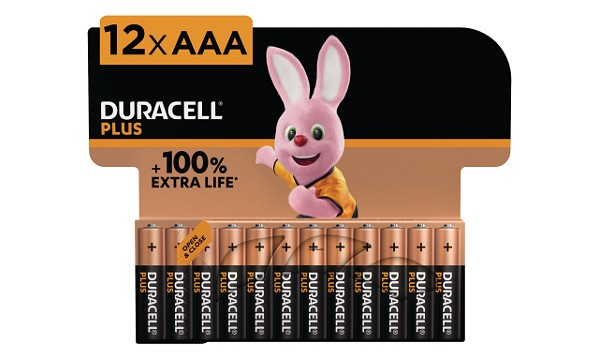 Paquete de 12 Pilas Duracell Plus Power AAA