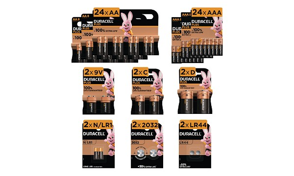 Duracell Mega Family 60 Batteries Pack